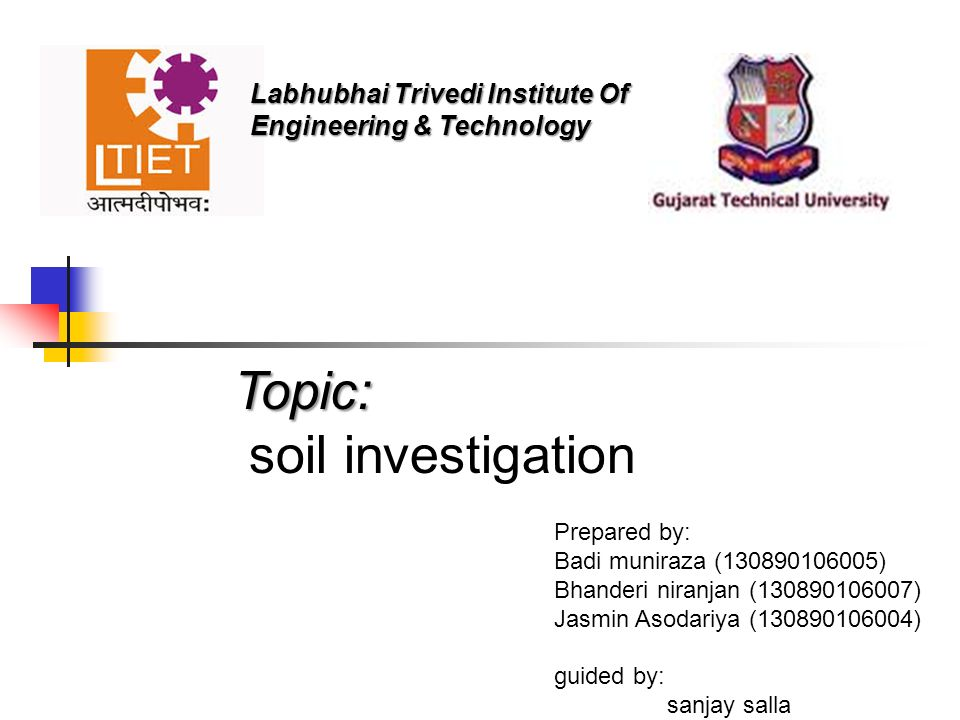 Topic soil investigation ppt video online download for Soil investigation report