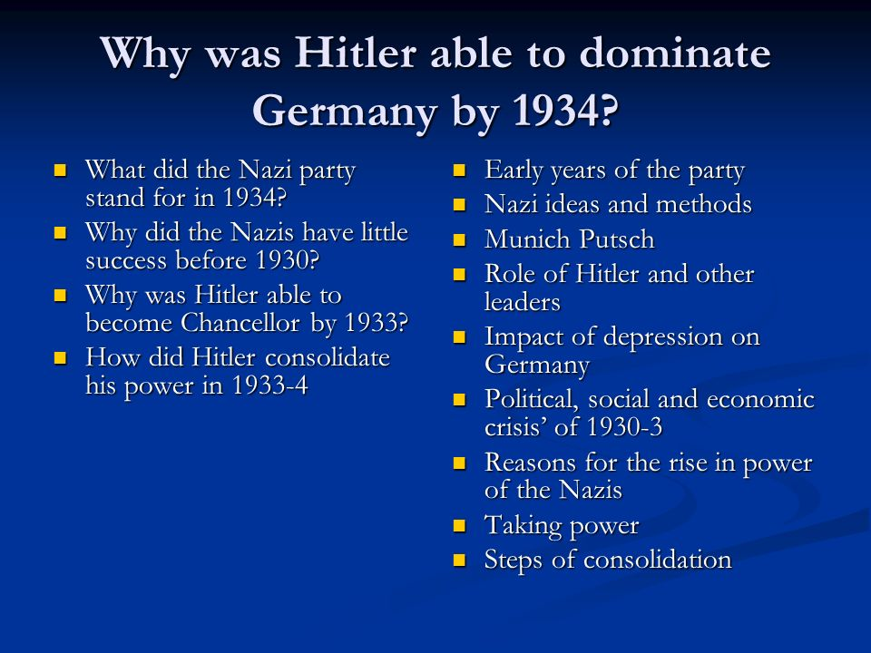 why did hitler rise to power in 1933 essay How did hitler come to power i need to write kind of an essay on how he came to power please help  when hitler became chancellor in january 1933, the.