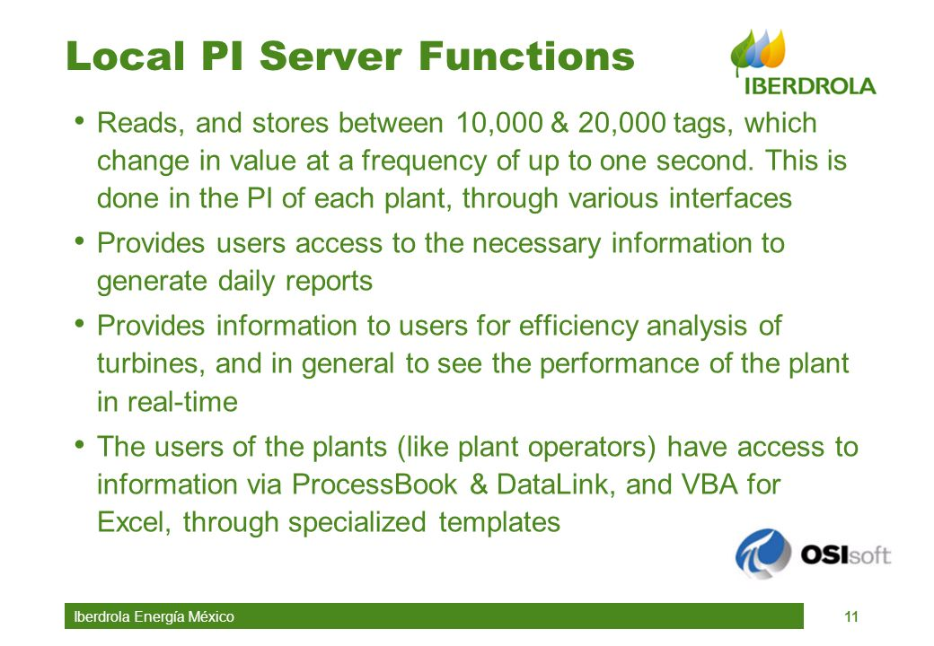 Local PI Server Functions
