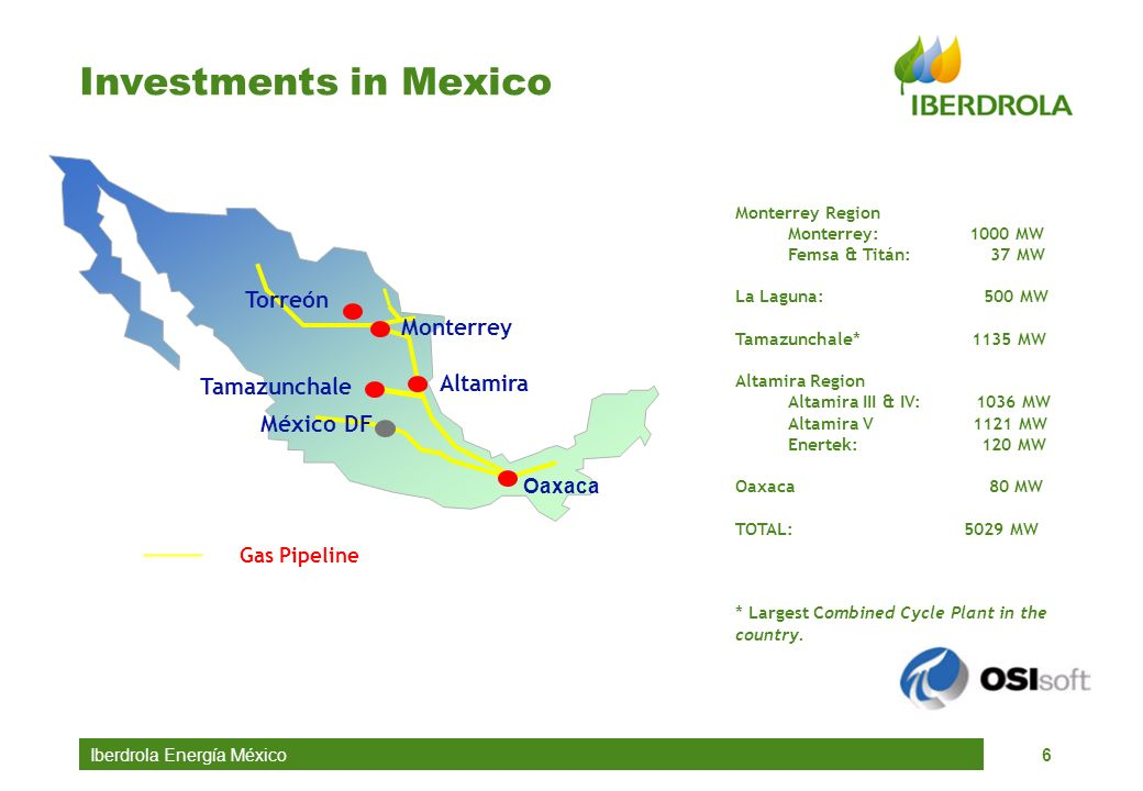 Investments in Mexico Torreón Monterrey Altamira Tamazunchale