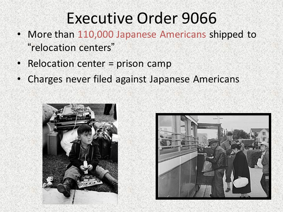 the creation of executive order no 9066 as a means of protecting the japanese americans from possibl Executive order no 9066 of the war requires every possible protection against espionage and group characteristics of japanese americans and the.