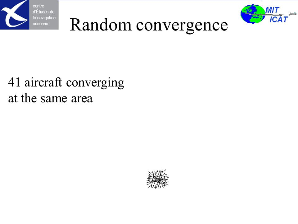 Random convergence 41 aircraft converging at the same area
