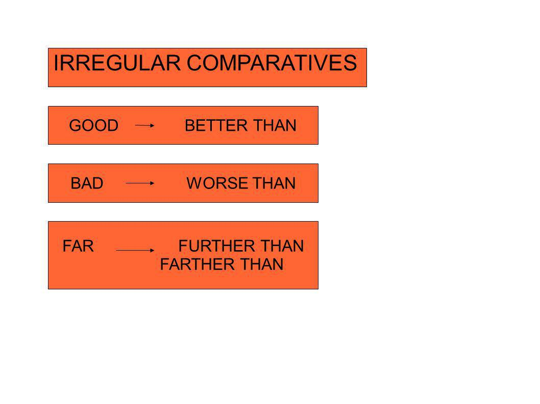 IRREGULAR COMPARATIVES