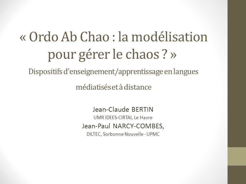 « Ordo Ab Chao : la modélisation pour gérer le chaos