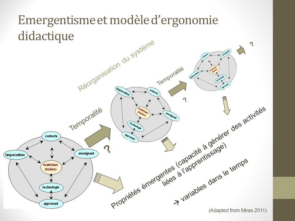 Emergentisme et modèle d'ergonomie didactique