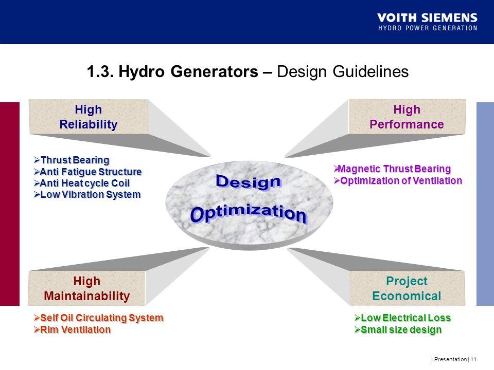 1.3. Hydro Generators – Design Guidelines