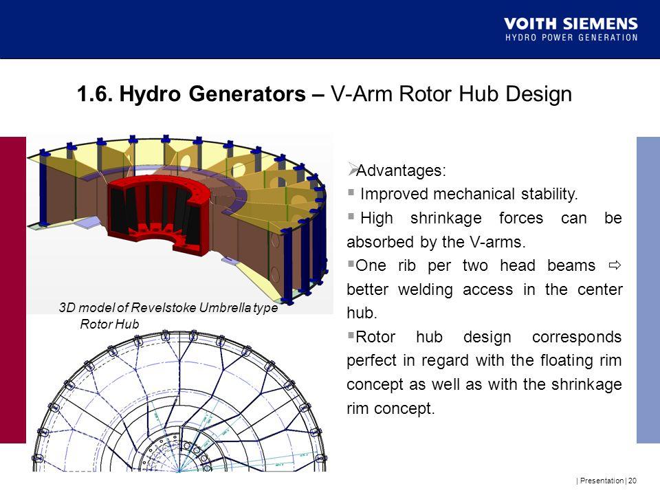 1.6. Hydro Generators – V-Arm Rotor Hub Design