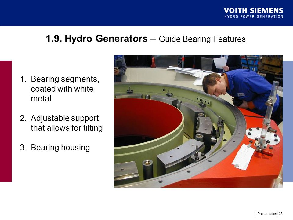 1.9. Hydro Generators – Guide Bearing Features