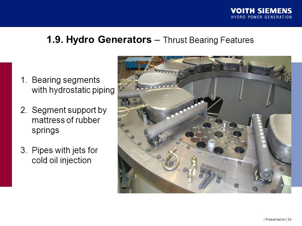 1.9. Hydro Generators – Thrust Bearing Features