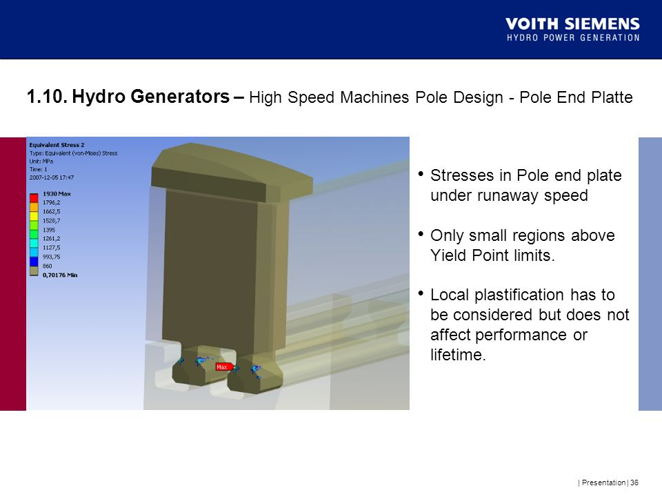 1.10. Hydro Generators – High Speed Machines Pole Design - Pole End Platte