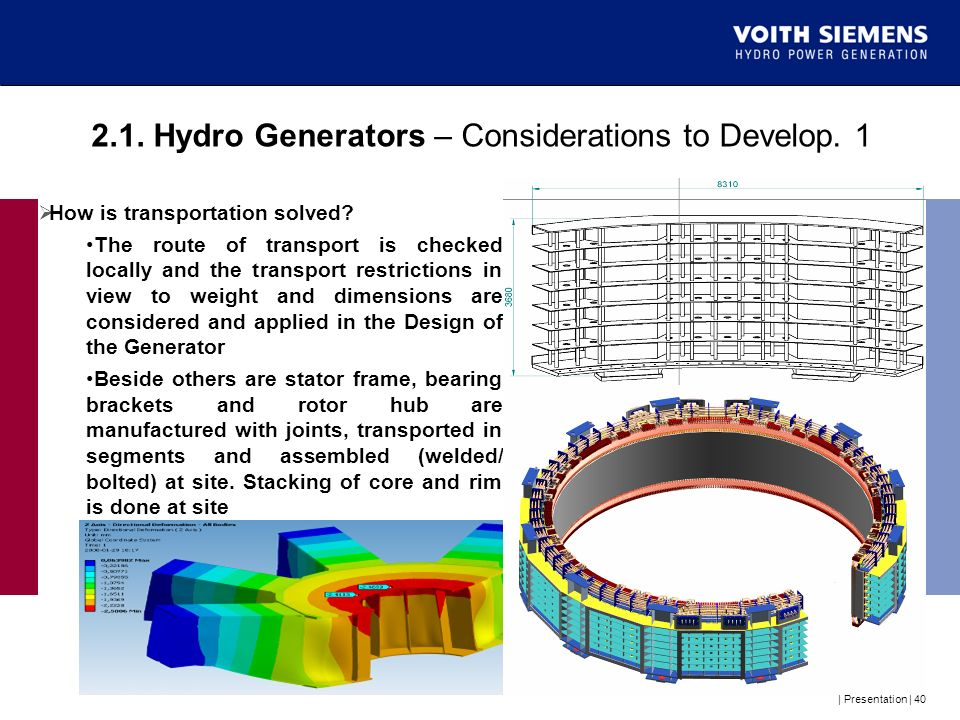 2.1. Hydro Generators – Considerations to Develop. 1
