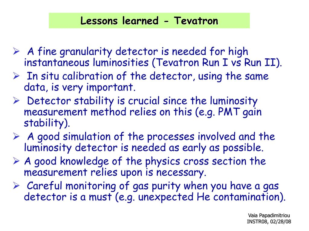 Lessons learned - Tevatron