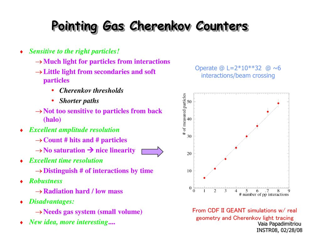 Pointing Gas Cherenkov Counters
