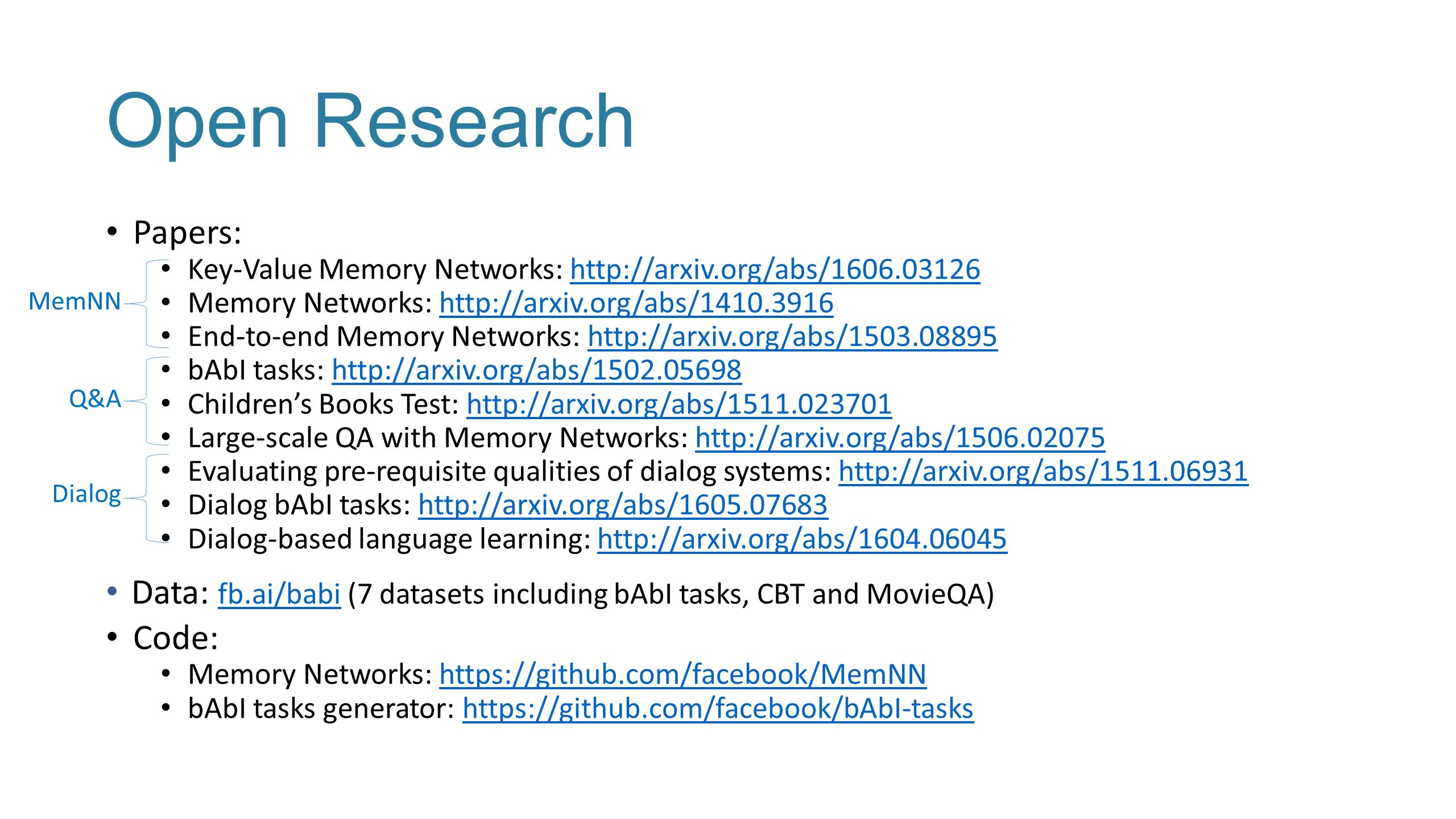 Memory Networks for Language Understanding