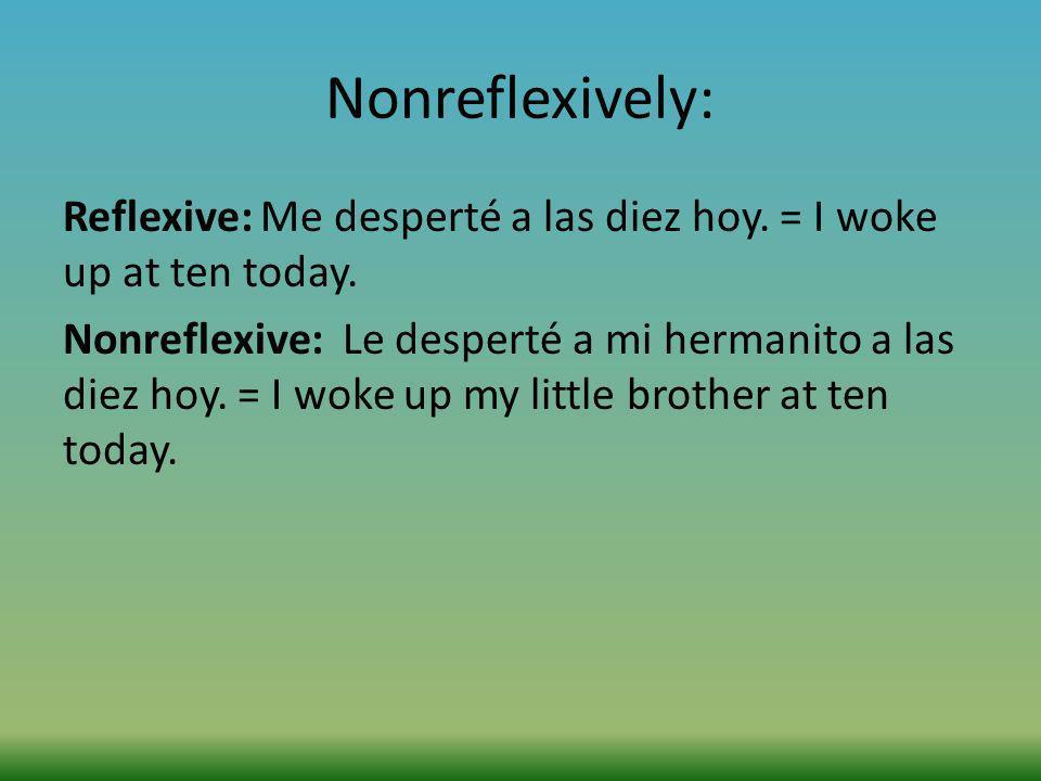 Nonreflexively:
