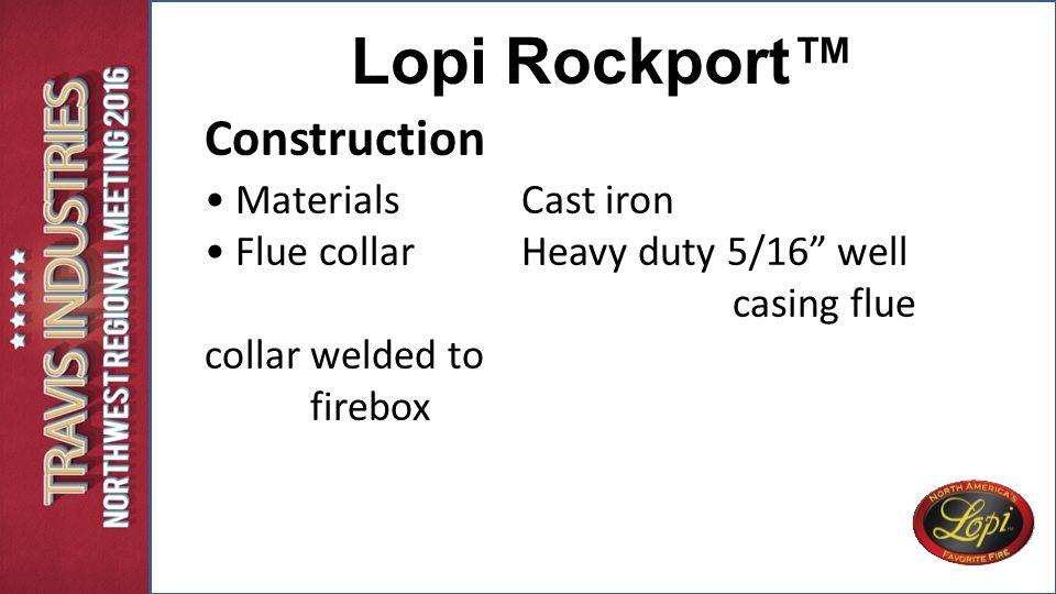 Construction Lopi Rockport™ \u2022 Materials Cast iron  sc 1 st  SlidePlayer & 42 APEX. 42 APEX 42 APEX General Description: An elegantly designed ...