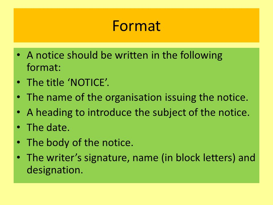 Notice Writing  Ppt Video Online Download