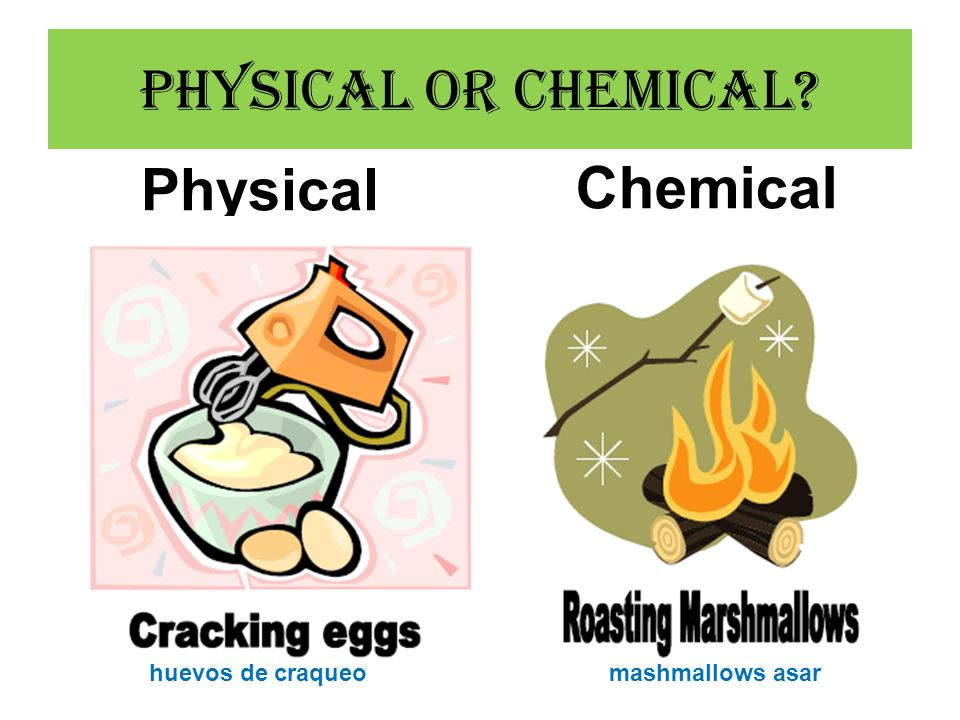 Physical or Chemical Physical Chemical huevos de craqueo