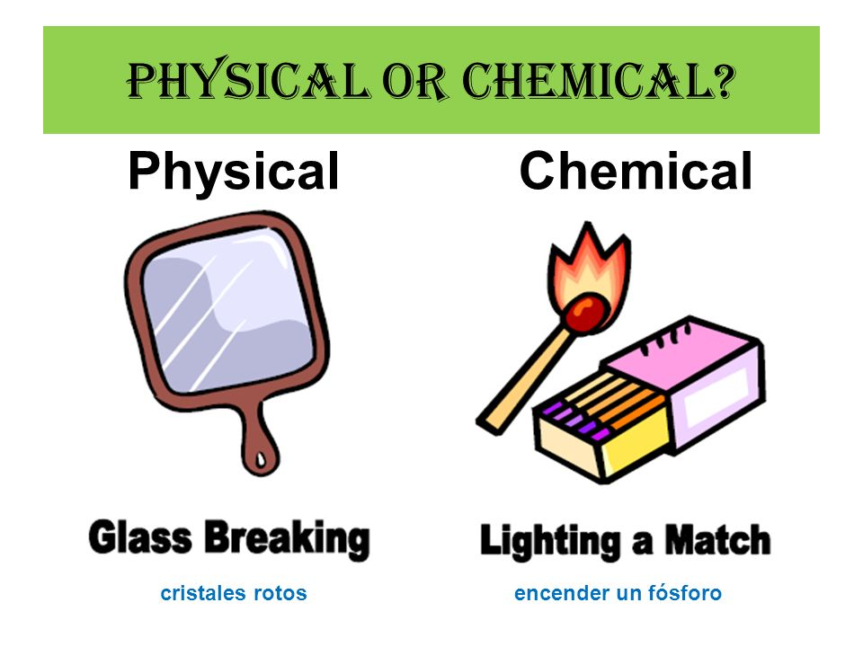 Physical or Chemical Physical Chemical cristales rotos