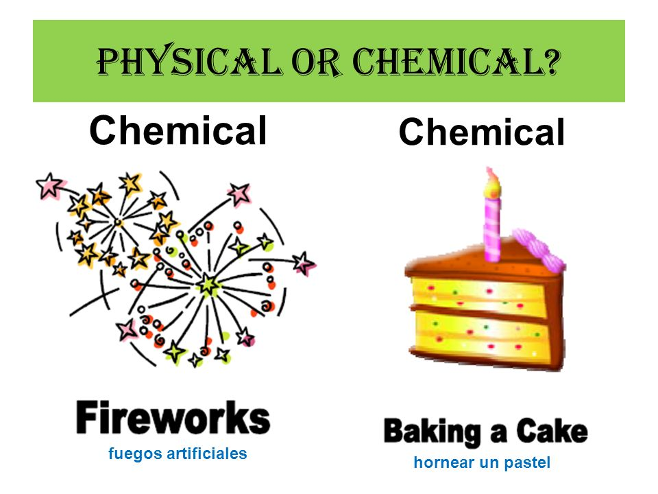 Physical or Chemical Chemical Chemical fuegos artificiales