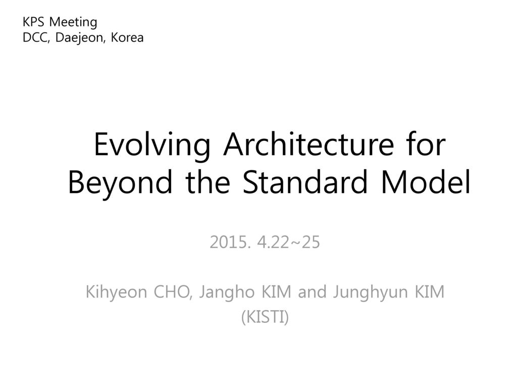 Evolving Architecture for Beyond the Standard Model
