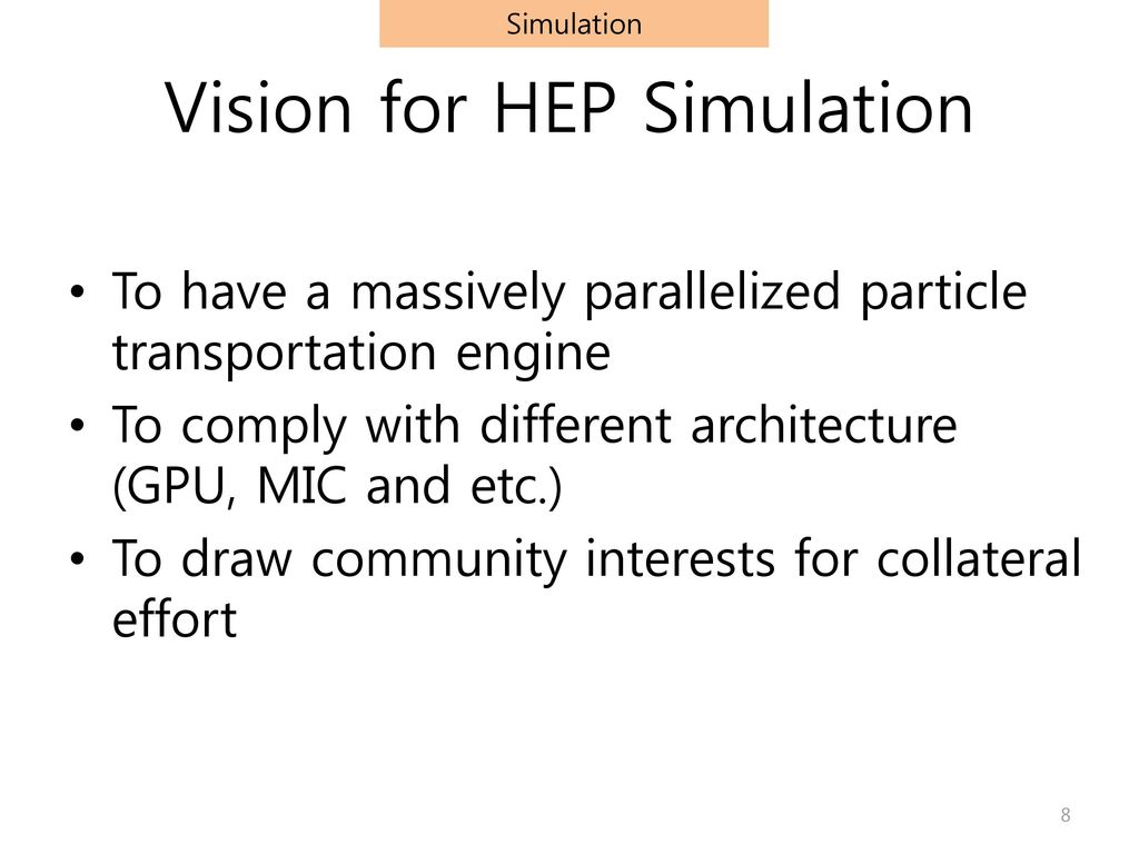 Vision for HEP Simulation
