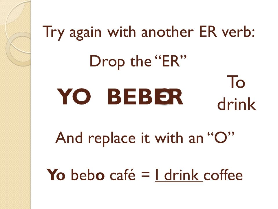 Try again with another ER verb: