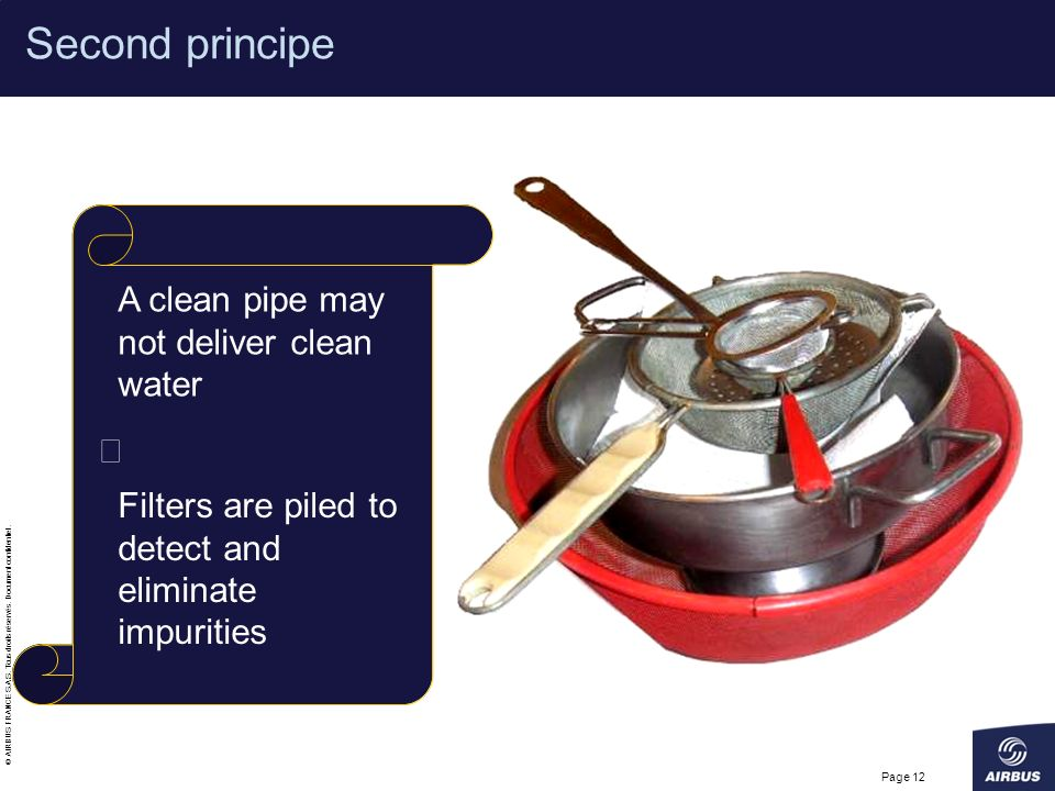 Second principe A clean pipe may not deliver clean water Þ