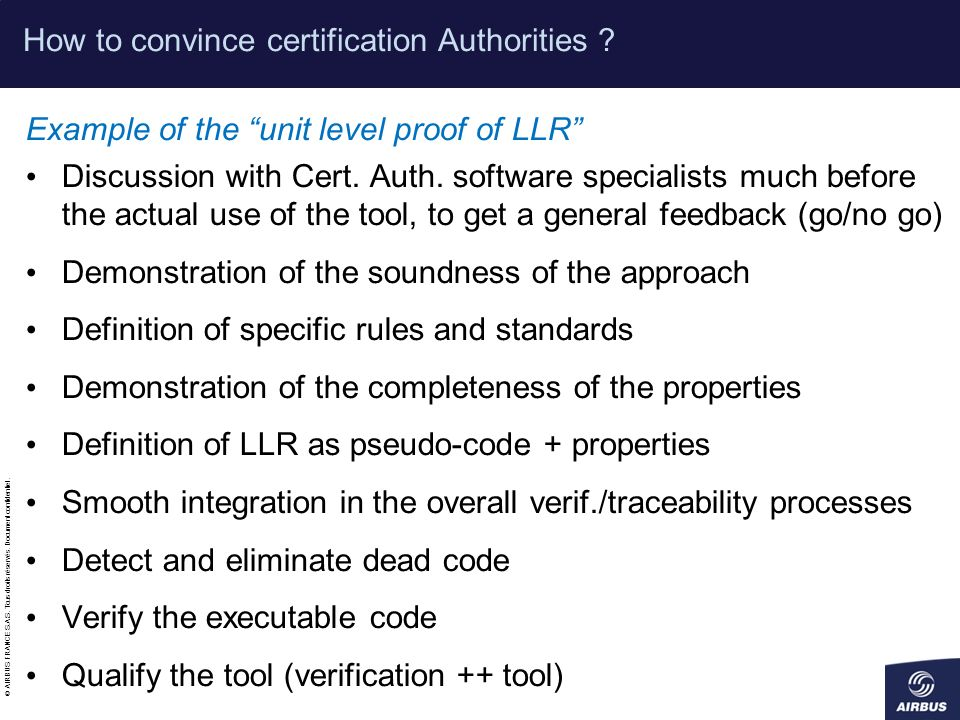 How to convince certification Authorities