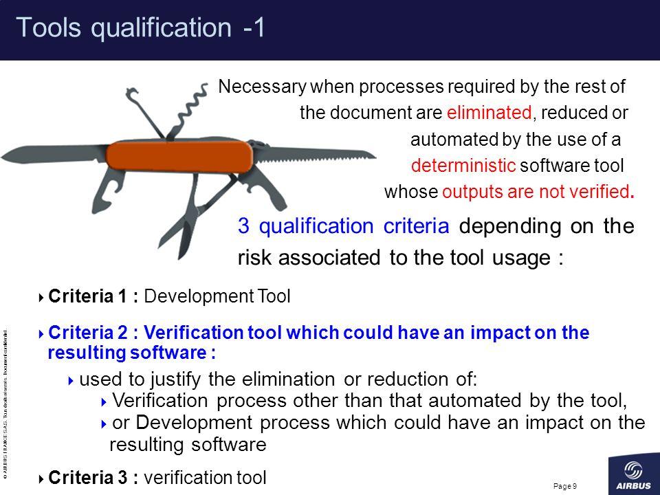 Tools qualification -1