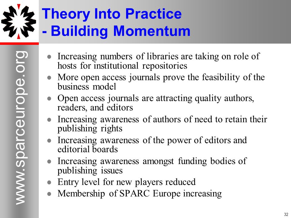 Theory Into Practice - Building Momentum