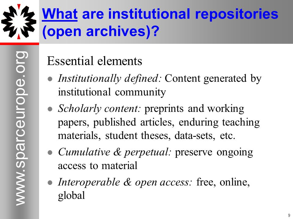 What are institutional repositories (open archives)