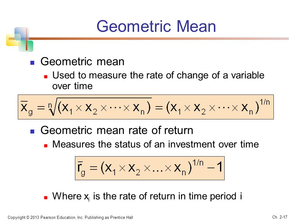 percent geometric return And can i intuitively understand the fact that log return has a smaller drift by the curvature of $\exp(x)$ :because $\exp(x)$ is increasing exponentially, so when we transform a normal random variable in such a way, the original normal distribution is skewed by $\exp(x)$ and hence shifting the mean to the right.