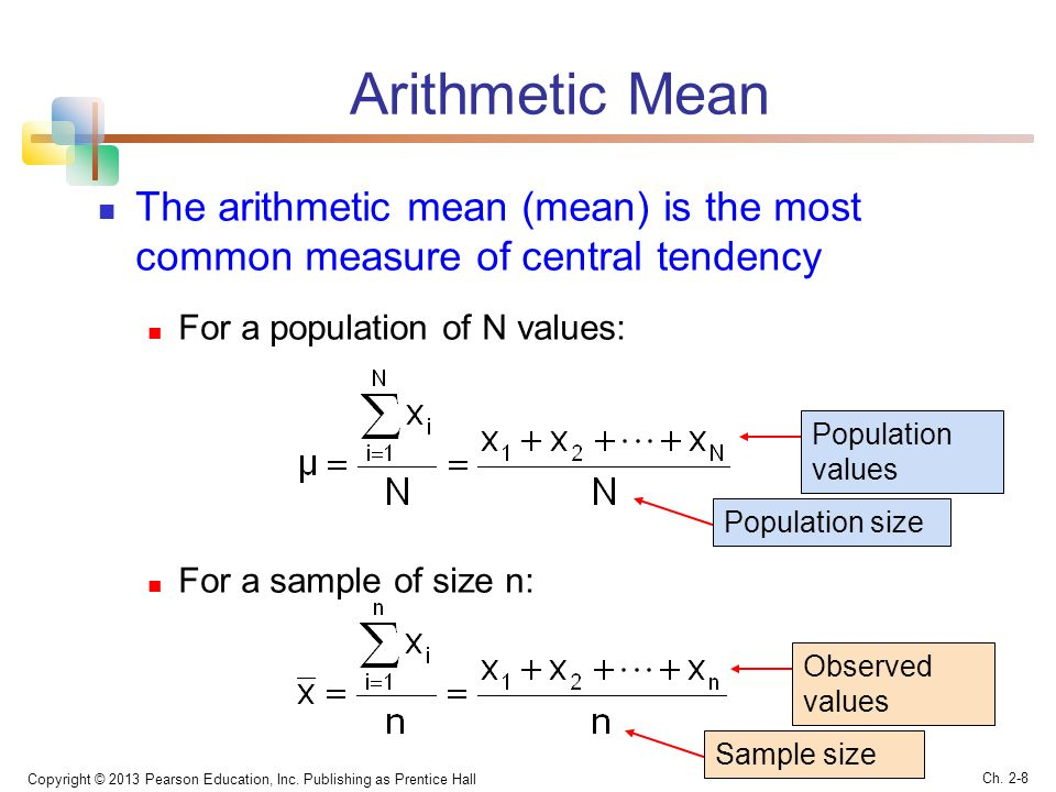 Measures of central tendency: The mean