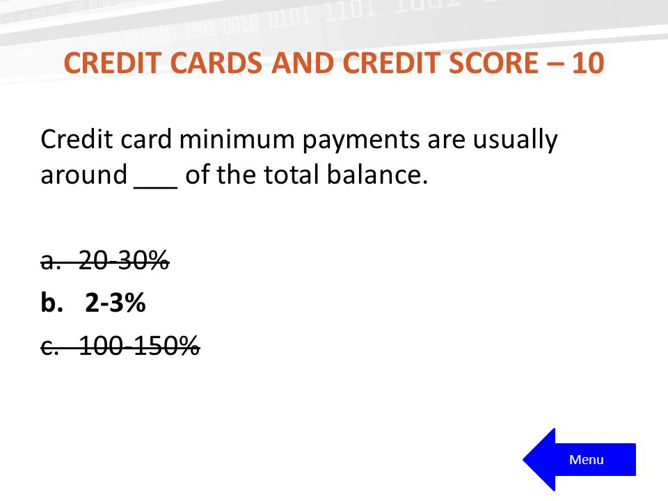 Credit cards and credit score – 10