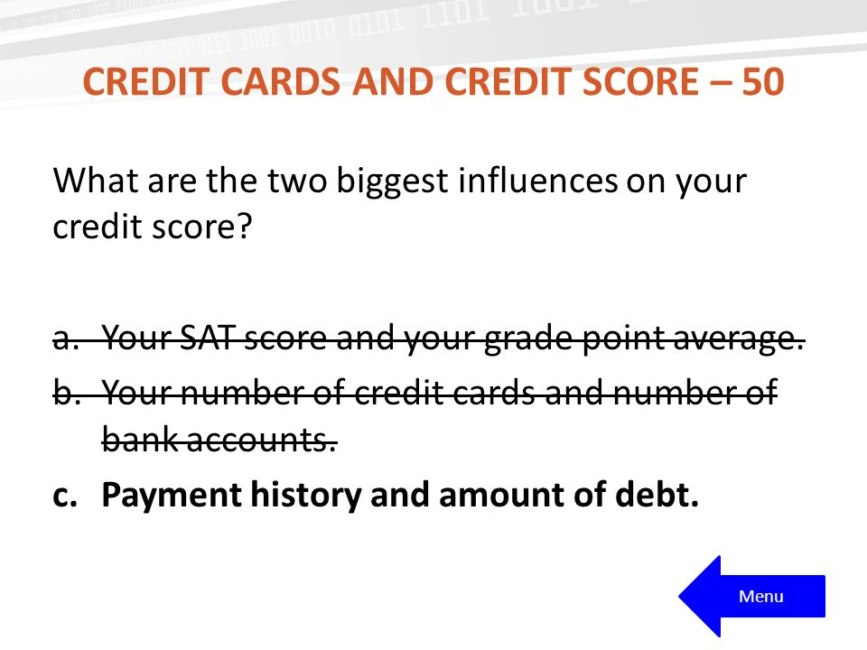 Credit cards and credit score – 50