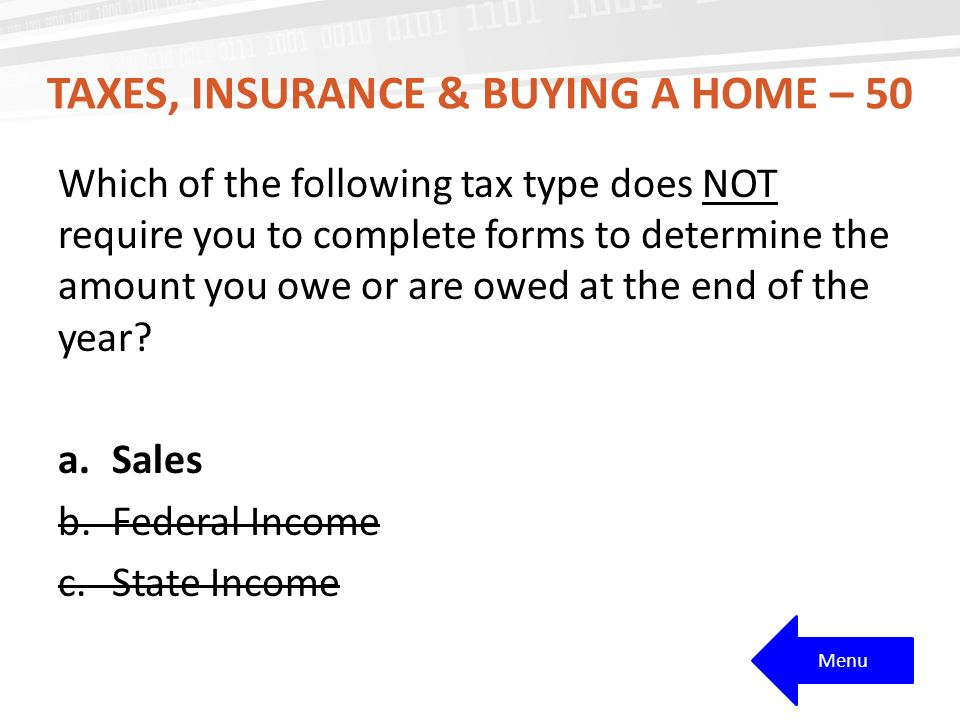 Taxes, Insurance & buying a home – 50