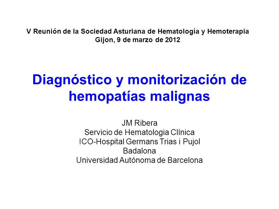 Diagnóstico y monitorización de hemopatías malignas