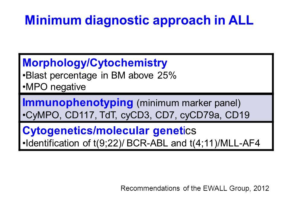 Minimum diagnostic approach in ALL