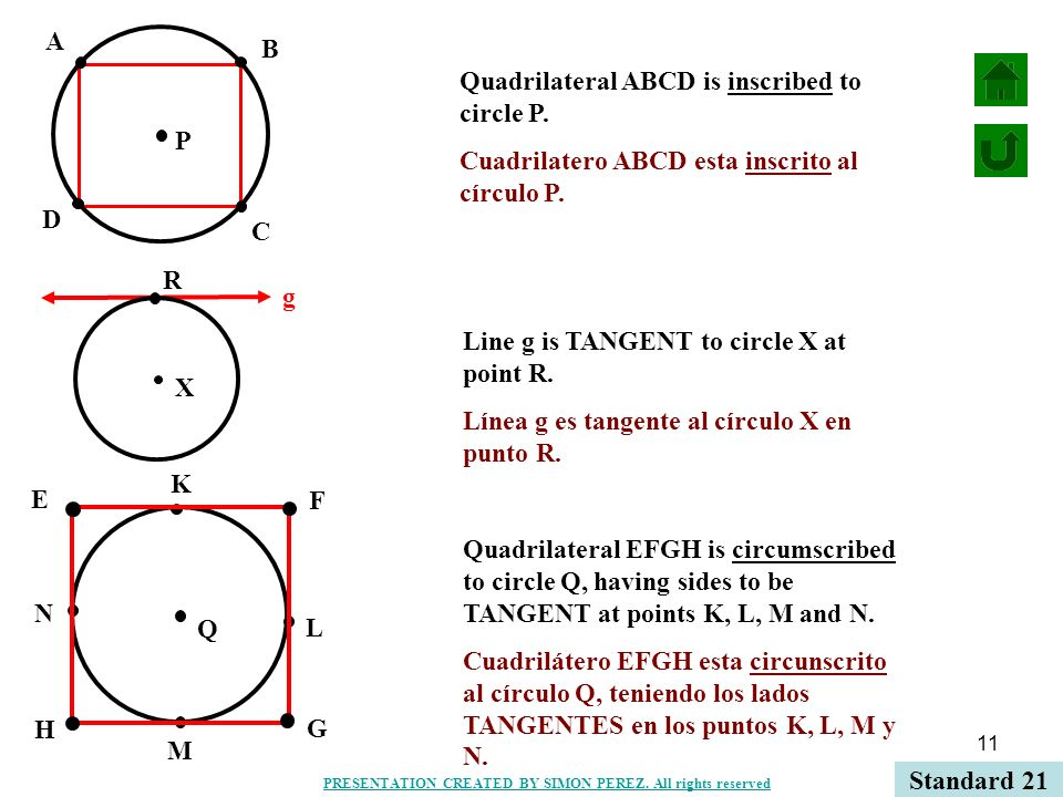 Quadrilateral ABCD is inscribed to circle P.