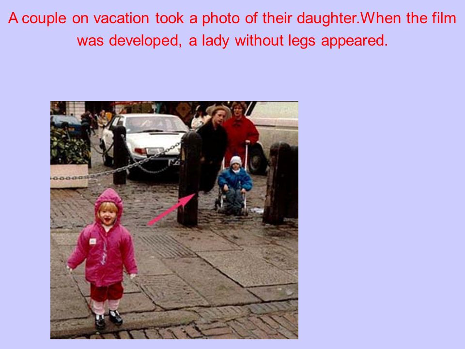 A couple on vacation took a photo of their daughter