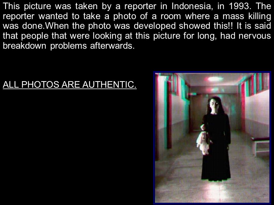 This picture was taken by a reporter in Indonesia, in 1993