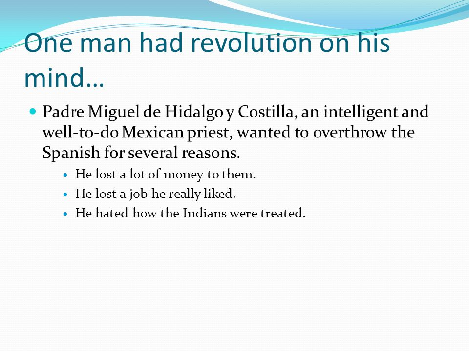 One man had revolution on his mind…