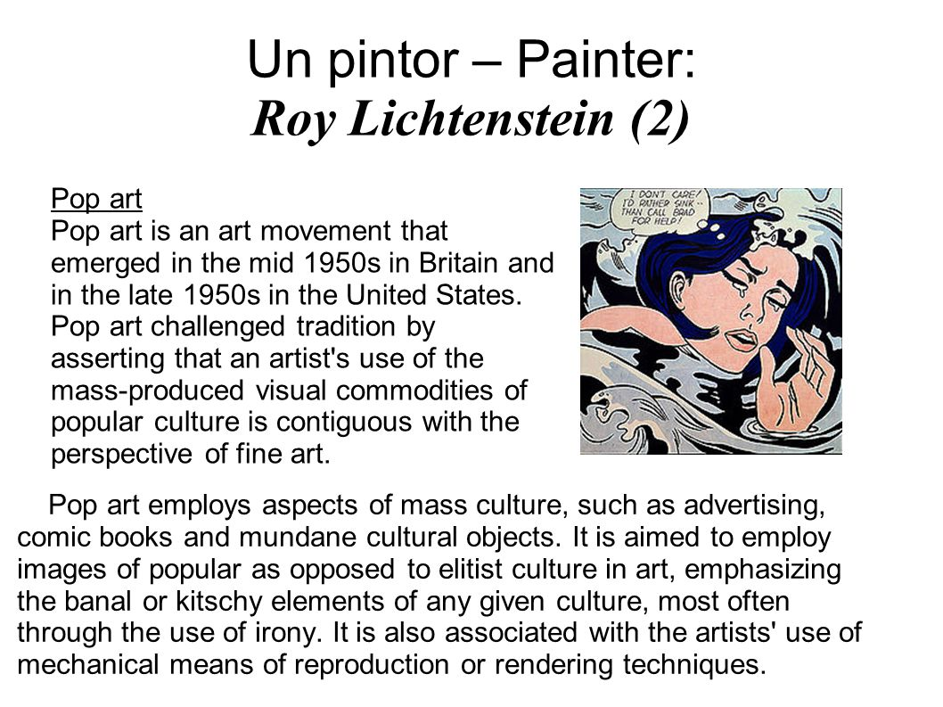 Un pintor – Painter: Roy Lichtenstein (2)