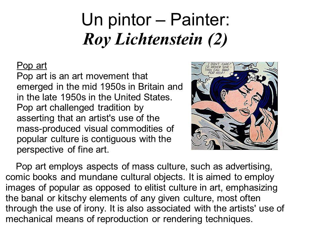 Un pintor – Painter: Roy Lichtenstein (2)