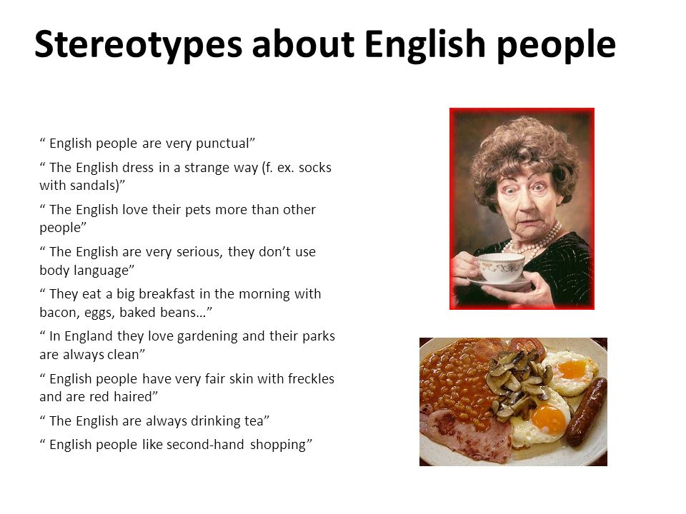 Stereotypes about English people