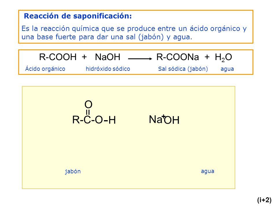 R-COOH + NaOH R-COONa + H2O