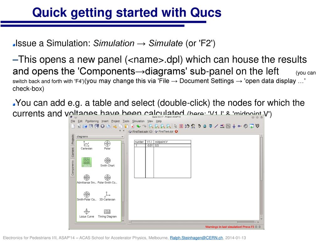 Quick getting started with Qucs