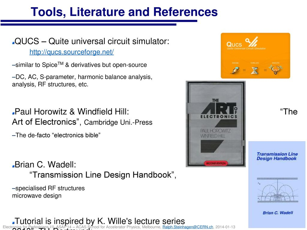 Tools, Literature and References