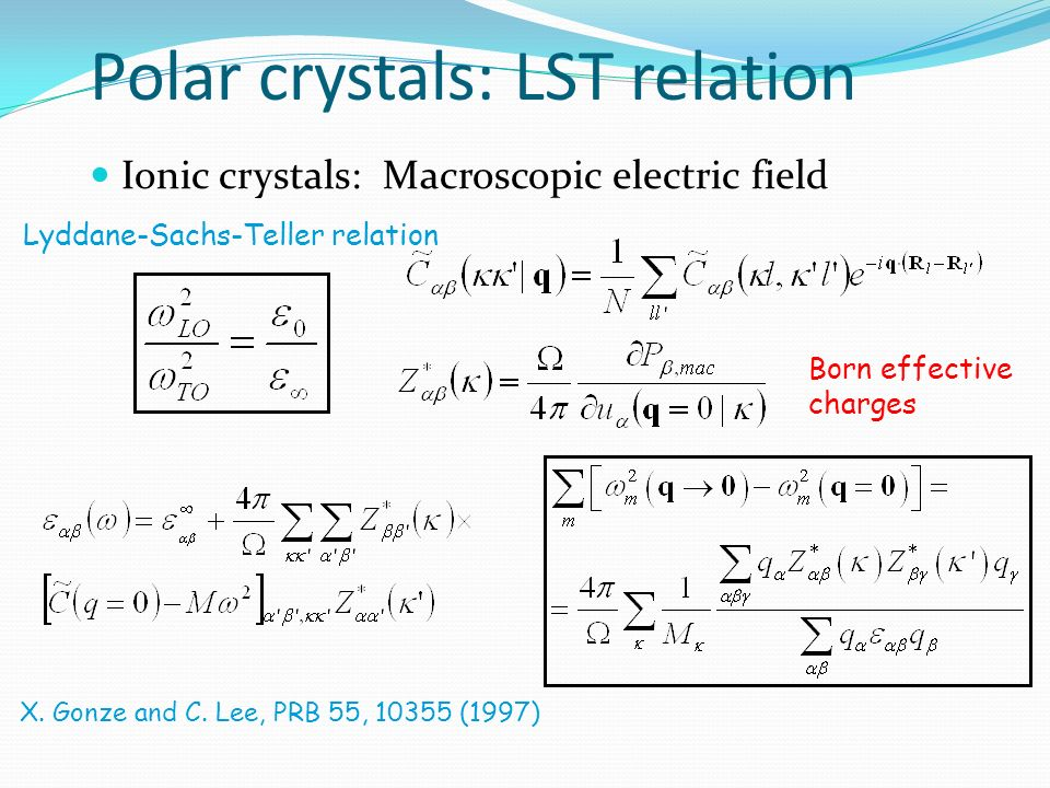 Polar crystals: LST relation
